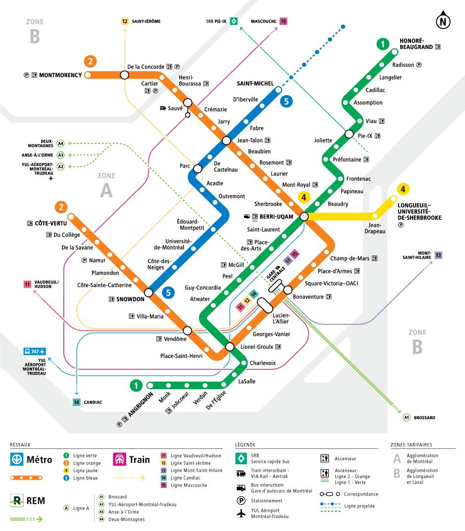 Metro De Montreal Map Métro | Société de transport de Montréal