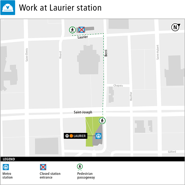 Work at Laurier station