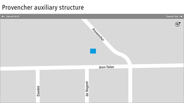 Plan of the Provencher auxiliary structure.