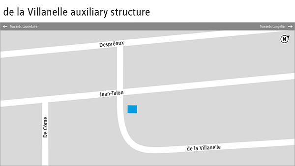 Plan of the de la Villanelle auxiliary structure.