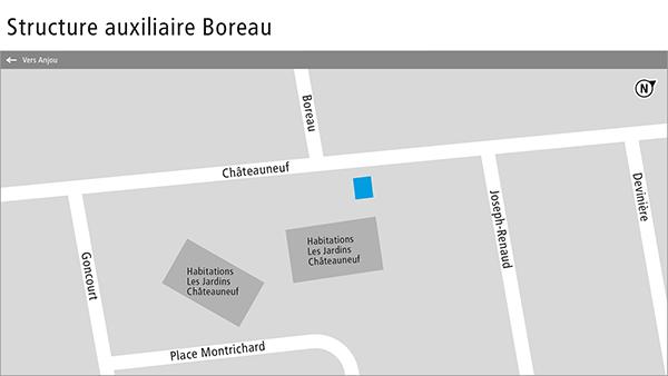 Plan de la structure auxiliaire Boreau.