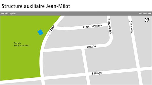 Plan de la structure auxiliaire Jean-Milot