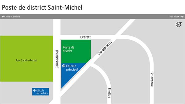 Plan de quartier du poste de district Saint-Michel