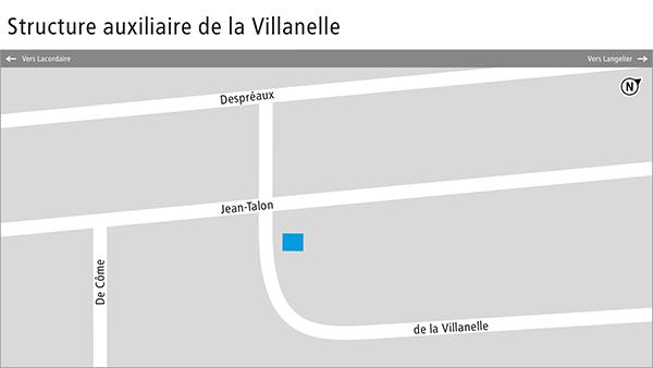 Plan de la structure auxiliaire de la Villanelle.