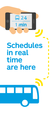 Schedules in real time are here