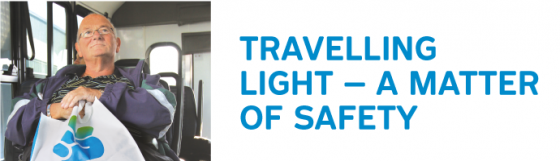 Travelling light – a matter of safety