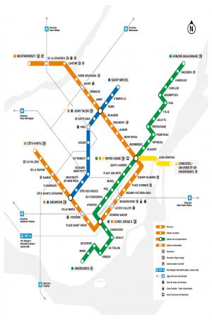 Stm Metro Map Maps | Société de transport de Montréal Stm Metro Map