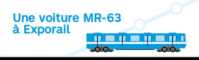 Une voiture MR-63 à Exporail