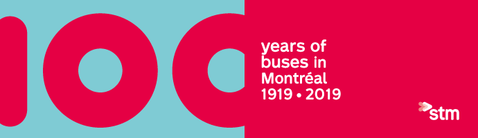 100 years of buses in montréal 1919 - 2019