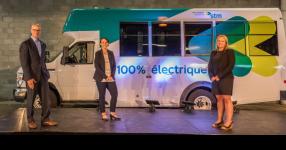 La STM met à l'essai un minibus électrique pour le transport adapté