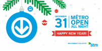 Ring in the New Year with peace of mind:  métro exceptionally open all night