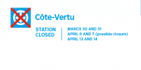Côte-Vertu Garage Project: Côte-Vertu station will be closed over two weekends, possibly three