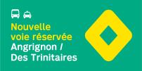 La STM annonce la mise en service de mesures préférentielles pour bus et taxis sur l'axe Des Trinitaires et Angrignon