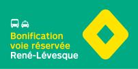 La STM annonce la bonification des heures de service sur la voie réservée sur l'axe du boulevard René-Lévesque