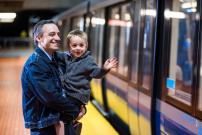Two AZUR trains are now on the green line