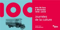 Les « 100 ans de bus à Montréal » aux Journées de la culture (French only)
