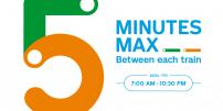 Enhanced métro service as of March 25