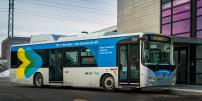 Moving toward electrification!  The STM is starting its tests on the fully electric BYD bus from china with passengers aboard
