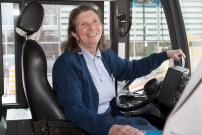 An honourable retirement for  STM's first woman bus driver