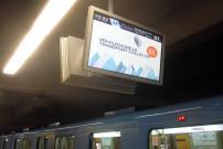 Des écrans dans l'ensemble du réseau du métro: pour une clientèle toujours mieux informée