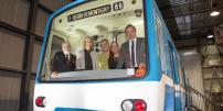 The Montréal métro's inaugural car arrives at the museum