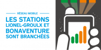A little extra for the customer experience: Two more métro stations connected to mobile network