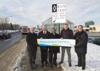 STM opens reserved lane for buses and taxis on boulevard Côte-Vertu