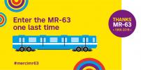 The STM pays a special tribute to the last MR-63 train  on its last day of passenger serviceernière journée en service clientèle