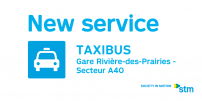 The STM offers a new shared taxibus service in Rivière-des-Prairies
