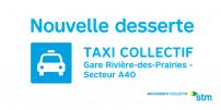 La STM offre une nouvelle desserte de taxi collectif à Rivière-des-Prairies