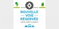 La STM annonce la mise en service de mesures préférentielles pour bus, taxis et covoiturage sur le boulevard de la Côte-Vertu