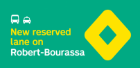 The STM announces the implementation of bus and taxi priority measures on Robert-Bourassa Blvd