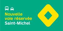 La STM annonce la mise en service de mesures préférentielles pour bus et taxis sur l'axe Saint-Michel