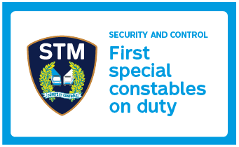 Security and control - First special constables on duty