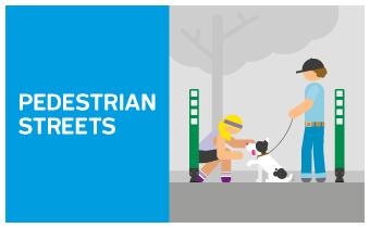 Pedestrian street: bus network modifications