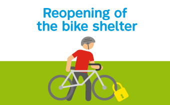 Reopening of the bike shelter
