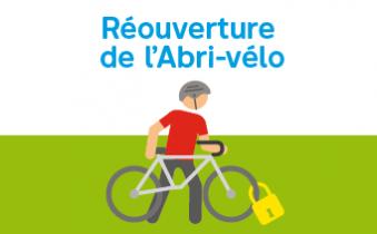 Réouverture de l'Abri-vélo
