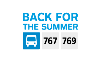 Shuttles 767 and 769 are back for the summer!