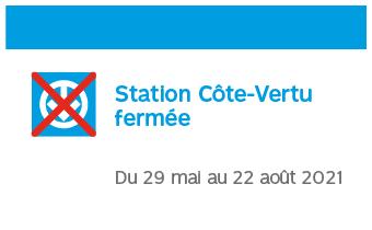 Station Côte-Vertu fermée du 29 mai au 22 août